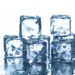 Schmelzende Eiswürfel
